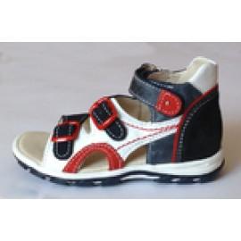 туфли Тотто (кожа) сине-бело-красные 043