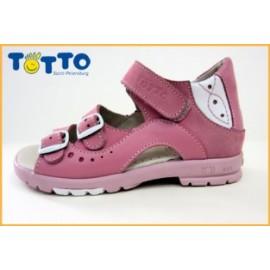 сандали Тотто (кожа) розовый-белый 1027