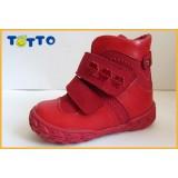 Ботинки Тотто (кожа) красный 208
