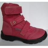Ботинки Тотто (кожа) фуксия 210 (мех)