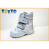 Ботинки Тотто (кожа) белый 214 (мех)