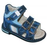 Детская профилактическая обувь сандалии Minimen 781-14-4А синие