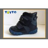 Ботинки Тотто (кожа) 208 синий (байка)