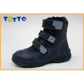 Ботинки Тотто (кожа) 210 джинс-голубой (байка)