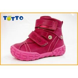 Ботинки Тотто (кожа) фуксия 248 (байка)