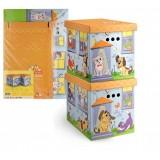 VAL KCTN-CD-2M Короб картонный, складной, большой, 28*38*31.5 см, набор 2 шт., КИСКИ и СОБАЧКИ