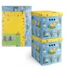 VAL KCTN-DF-2M Короб картонный, складной, большой, 28*38*31.5 см, набор 2 шт., УТЯТА и ЛЯГУШАТА