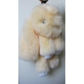 Кролик-брелок из натурального меха большой (~20см)