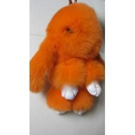 Кролик-брелок из натурального меха средний (~14 см)