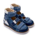 Детские ортопедические сандалии Тапибу (Tapiboo) 25011 Василек (синий) выкладка свода