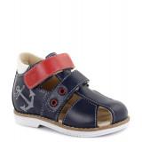 Детские профилактические сандалии Тапибу (Tapiboo) 26004 ЯКОРЬ (синий, красный, белый)