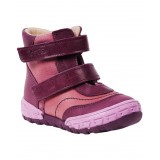 Ботинки Тотто (кожа) сирень 133 (байка)